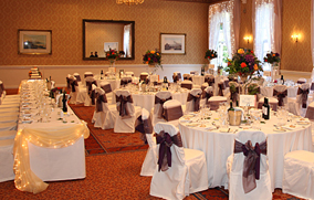 Beautifully decorated event with amazing chair covers, flowers and props