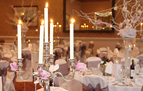 Amazing props to transform your wedding, candles lighting up the table